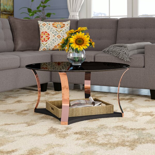 Hodimont Floor Shelf Coffee Table With Storage By Mercer41