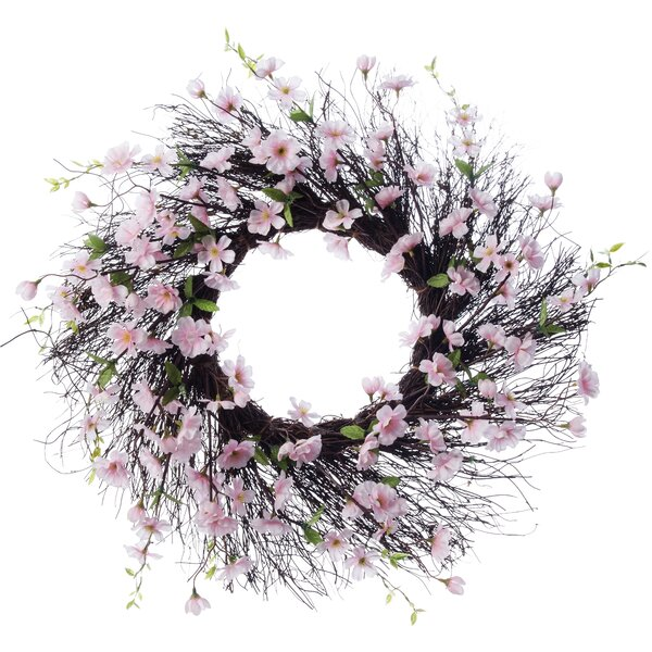 26 Apple Blossom Wreath by Three Posts