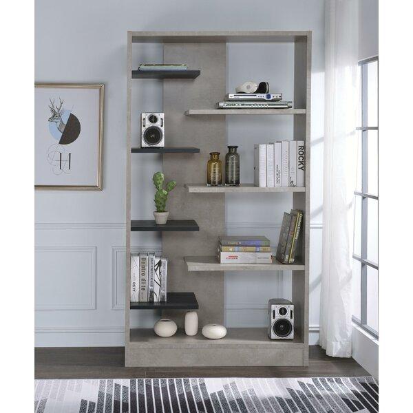 Chesson Faux Concrete Wooden Standard Bookcase by Brayden Studio