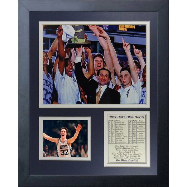 Duke University Blue Devils 1992 National Champions Framed Memorabilia by Legends Never Die