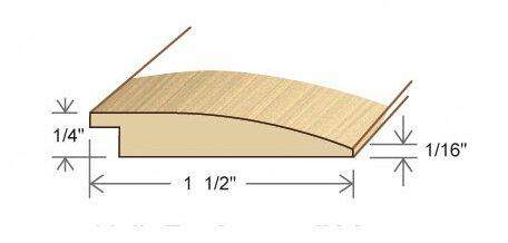 0.27 x 1.5 x 78 White Oak Reducer by Moldings Online