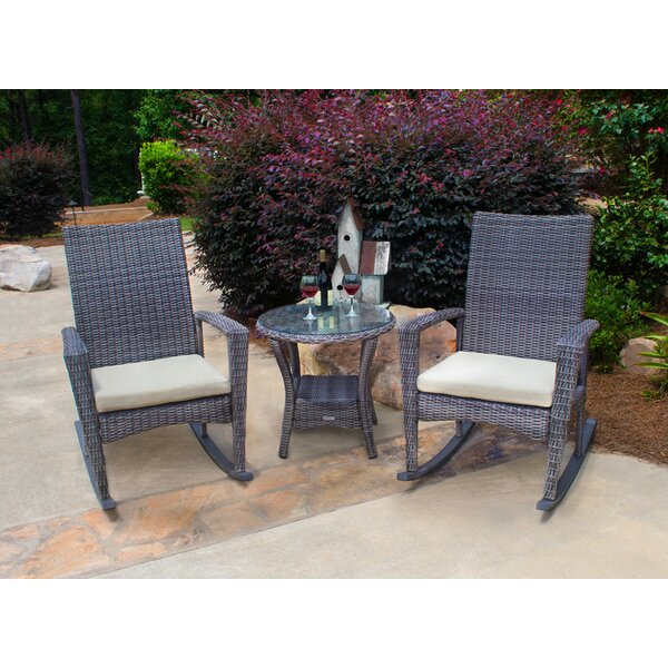 Lowell Bayview 3 Piece Conversation Set with Cushions by Winston Porter