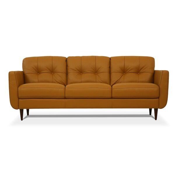 Bove Leather Sofa by Corrigan Studio