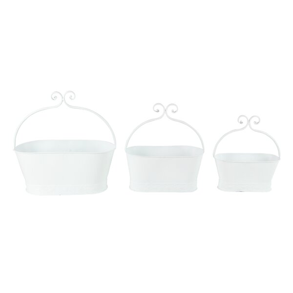 Vicknair 3-Piece Metal Pot Planter Set by Ophelia & Co.