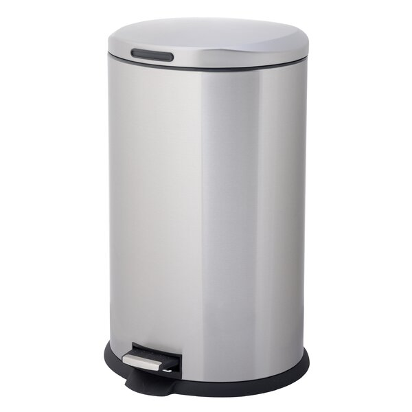 Stainless Steel 10.57 Gallon Step On Trash Can by HomeZone
