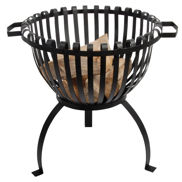 Tulip Cast Iron Wood Burning Fire Pit by EsschertDesign