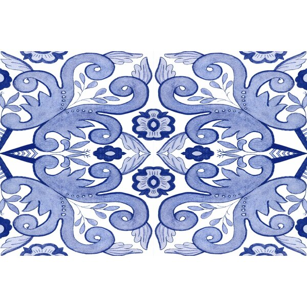Atherstone 4 Blue/White Area Rug by Red Barrel Studio