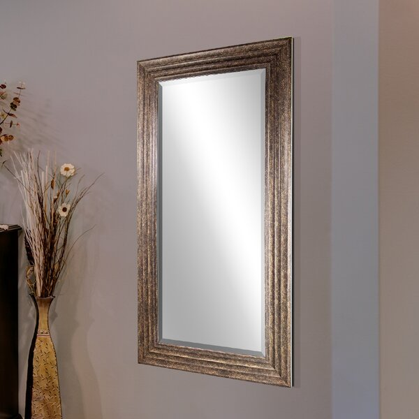 Modern Vertical Rectangular Framed Wall Mirror by Red Barrel Studio