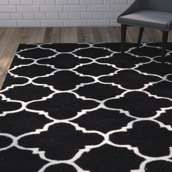 Wilkin Black / Ivory Rug by Wrought Studio