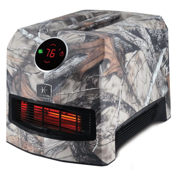 Mojave Ultra Lightweight Portable 1,500 Watt Electric Infrared Cabinet Heater With Automatic Thermostat By Heat Storm