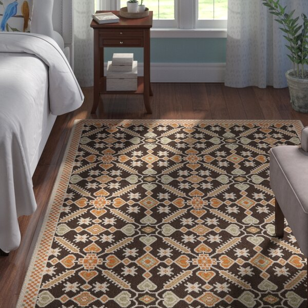 Centeno Brown Floral Indoor/Outdoor Area Rug by Winston Porter