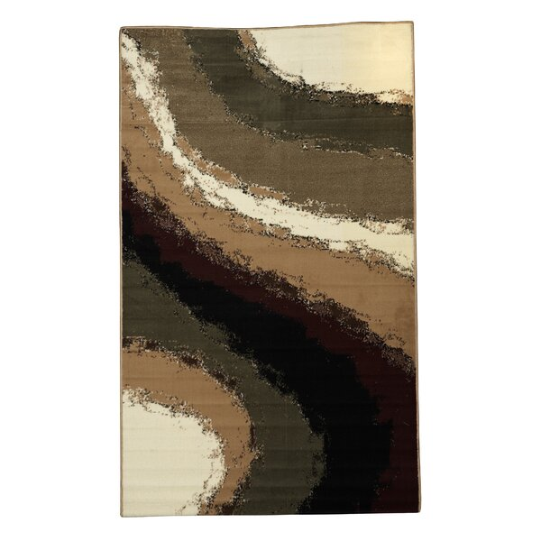 Allmon Brown/Ivory Area Rug by Winston Porter