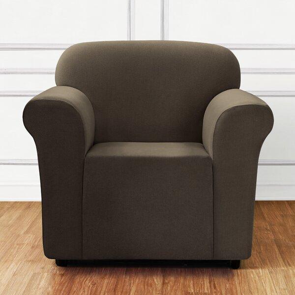 Stretch Mini Chevron Box Cushion Armchair Slipcover by Sure Fit