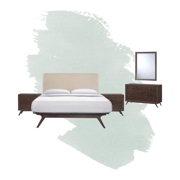 Arabella Queen Platform 5 Piece Bedroom Set by Foundstone
