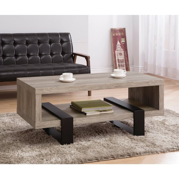 Lando Driftwood Open Shelf Coffee Table by Union Rustic