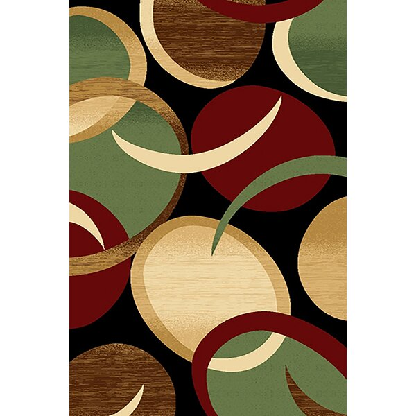 Mccampbell Black/Green Area Rug by Ivy Bronx