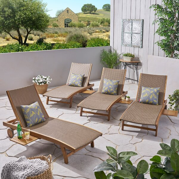 Cleghorn Reclining Chaise Lounge (Set of 4)
