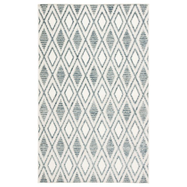 Pineville Trellis Blue/Ivory Indoor/Outdoor Area Rug by Union Rustic