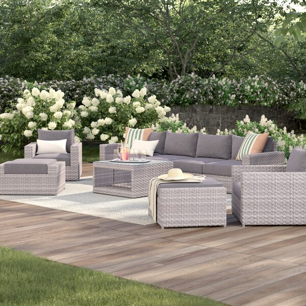 Humnoke 9 Piece Sofa Set with Cushions by Sol 72 Outdoor