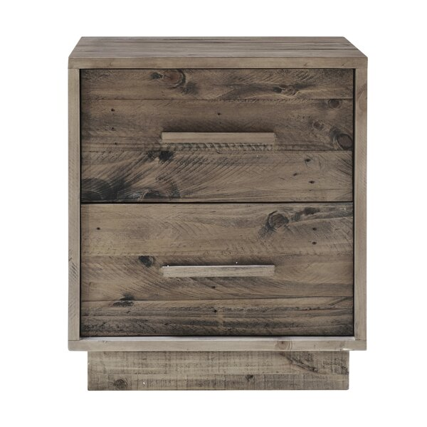 Hunstant 2 Drawer Nightstand by Loon Peak