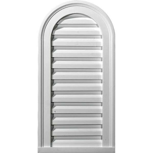 Cathedral 24H x 12W Gable Vent Louver by Ekena Millwork