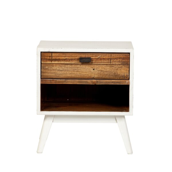 Camren One Drawer Nightstand - Farmhouse White by Gracie Oaks