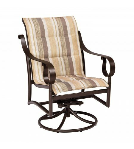 Ridgecrest Swivel Patio Dining Chair by Woodard
