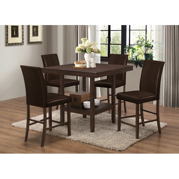 Langton 5 Piece Counter Height Dining Set by Red Barrel Studio Red Barrel Studio