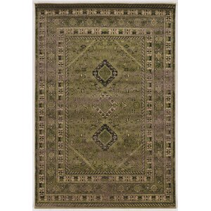 Shelie Goravan Green Area Rug