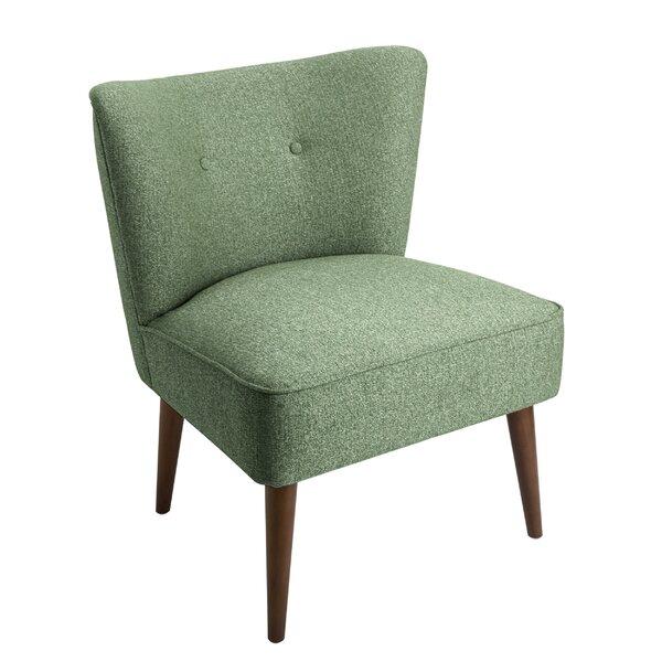 Bordelon Fabric Upholstered Wooden Side Chair by Corrigan Studio