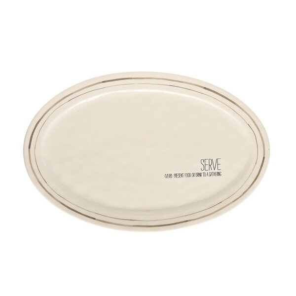 Serve Definition Oval Platter by Mud Pie™