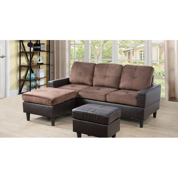 Straka Reversible Sectional with Ottoman by Ebern Designs Ebern Designs
