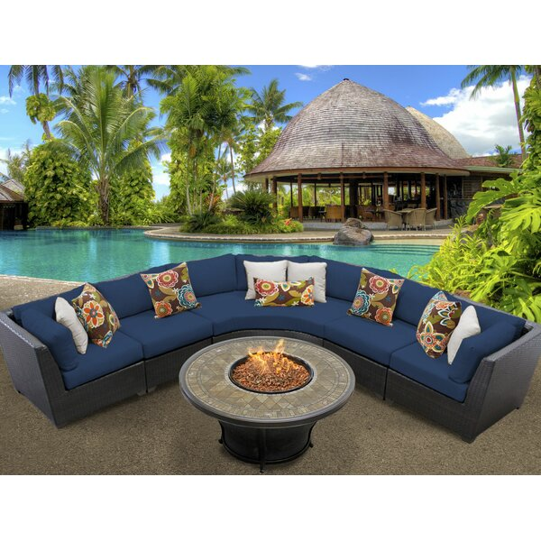 Tegan 6 Piece Sectional Seating Group with Cushions by Sol 72 Outdoor Sol 72 Outdoor