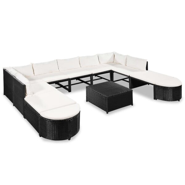 Westerham Garden 10 Piece Sectional Seating Group with Cushions by Ivy Bronx