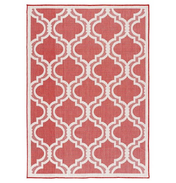 Kinney Reversible Red Indoor/Outdoor Area Rug by Charlton Home