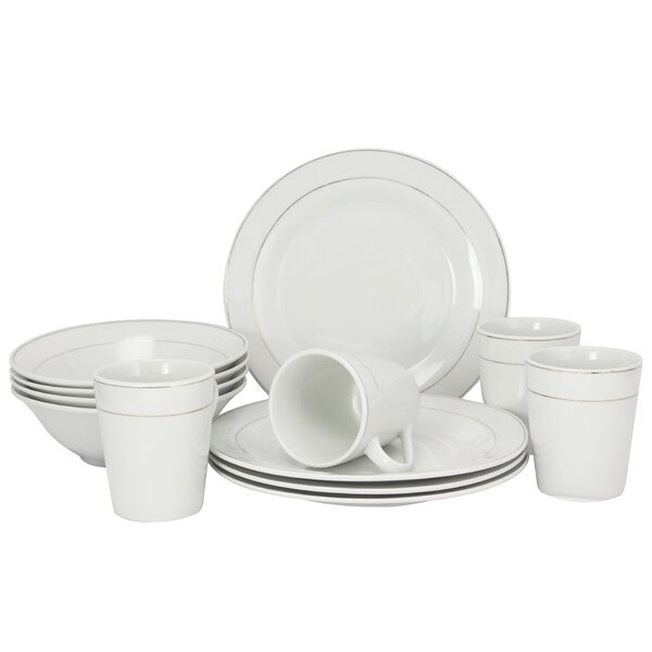 Sherly Deluxe 12 Piece Dinnerware Set, Service for 4 by Gracie Oaks