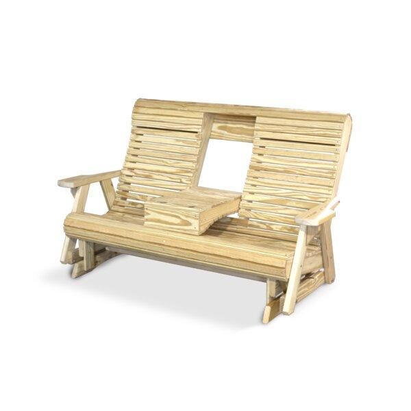 Wood Rollback Glider Bench by YardCraft