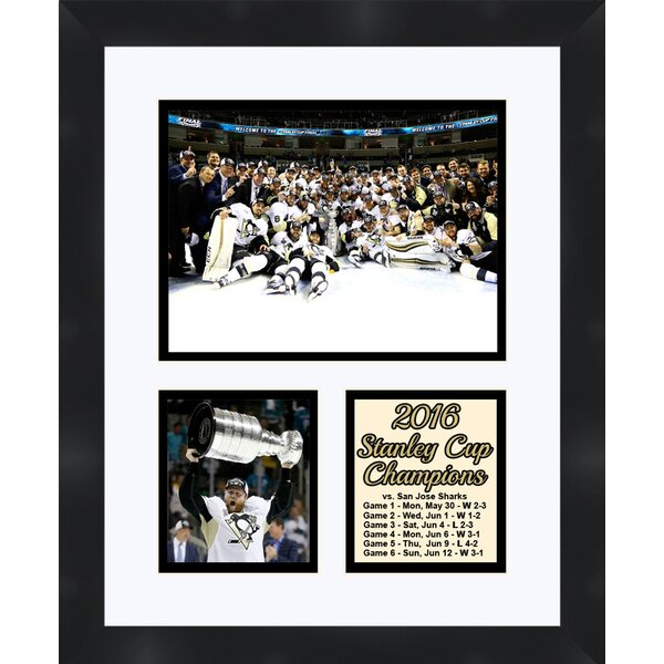Pittsburgh Penguins Phil Kessel Holding The 2016 Stanley Cup Collage Framed Photographic Print by Frames By Mail