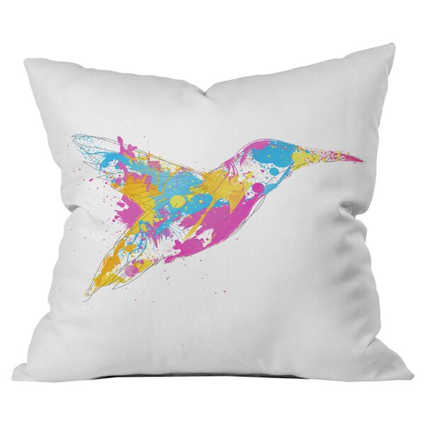 Robert Farkas Bird of Colour Outdoor Throw Pillow by Deny Designs