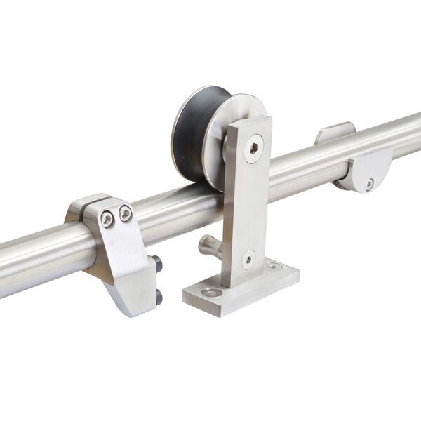 Top Mount Stainless Steel Barn Style Sliding Door Track Pocket Door Hardware by Calhome