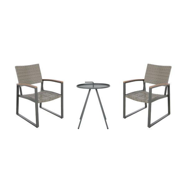 Hively Outdoor 3 Piece Seating Group by Ebern Designs Ebern Designs
