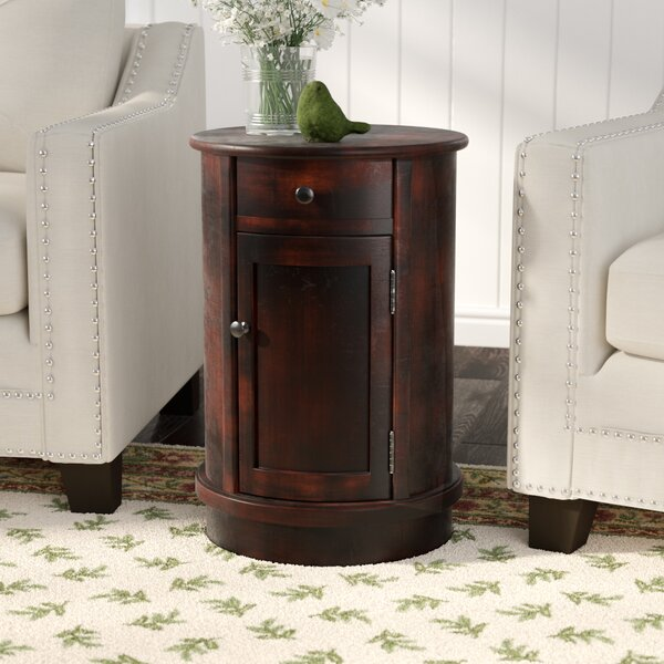 Monica Drum End Table With Storage By Darby Home Co