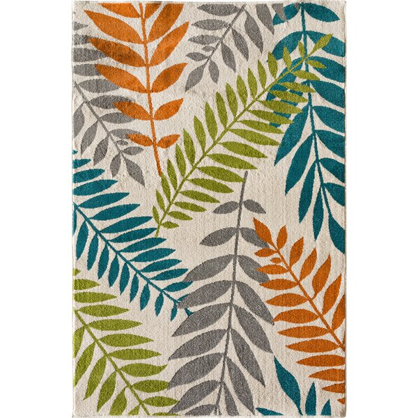 Encarnacion Blue/Green/Orange Indoor/Outdoor Area Rug by Winston Porter