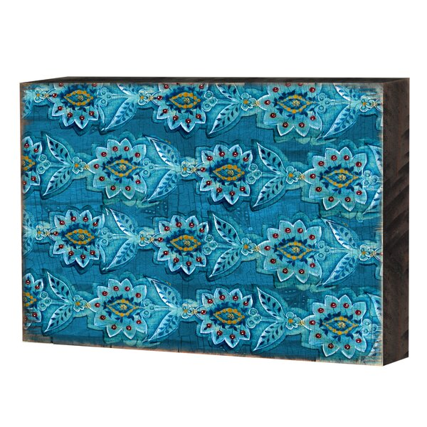 Decorative Block Graphic Art Print on Wood by Bungalow Rose