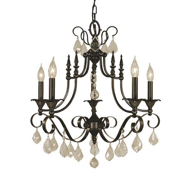 Mallie 6 - Light Candle Style Empire Chandelier By Astoria Grand