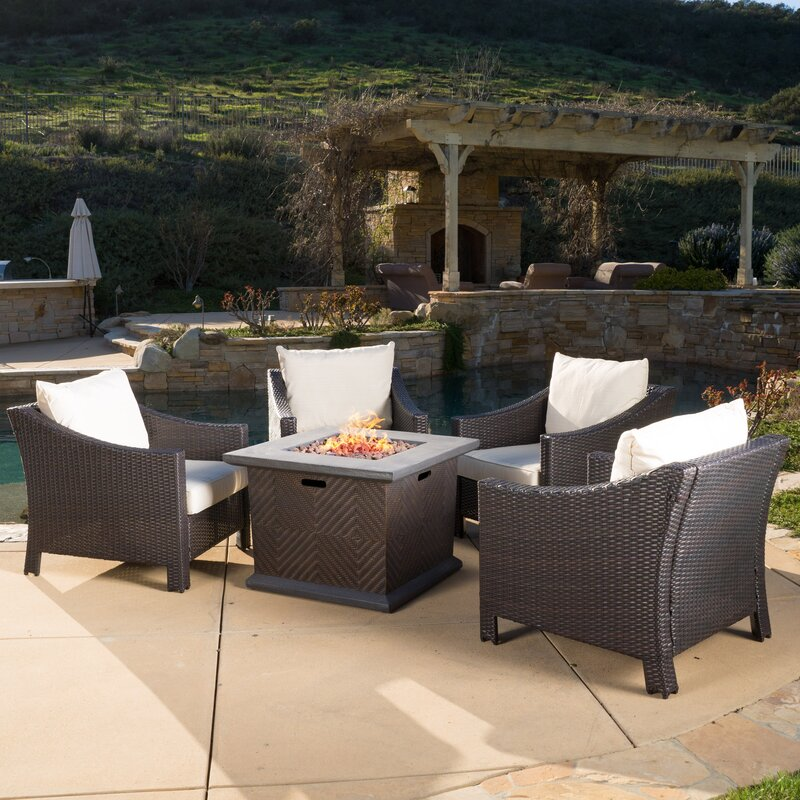 Shadai 5 Piece Conversation Set With Fire Pit