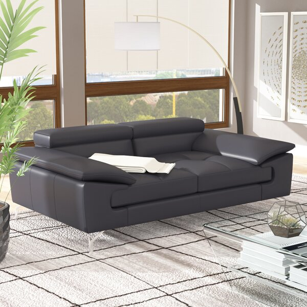 Colwyn Italian Leather Modular Loveseat by Wade Logan Wade Logan