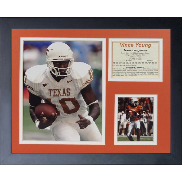 Vince Young - Texas Framed Memorabilia by Legends Never Die