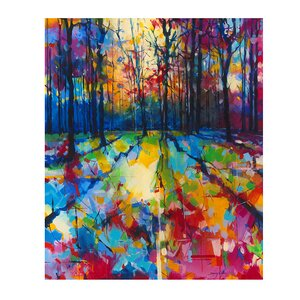 'Mile End Woods' Acrylic Painting Print