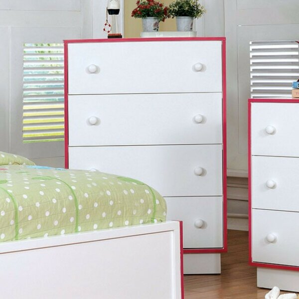 Kojo Wooden 4 Drawer Chest by Latitude Run